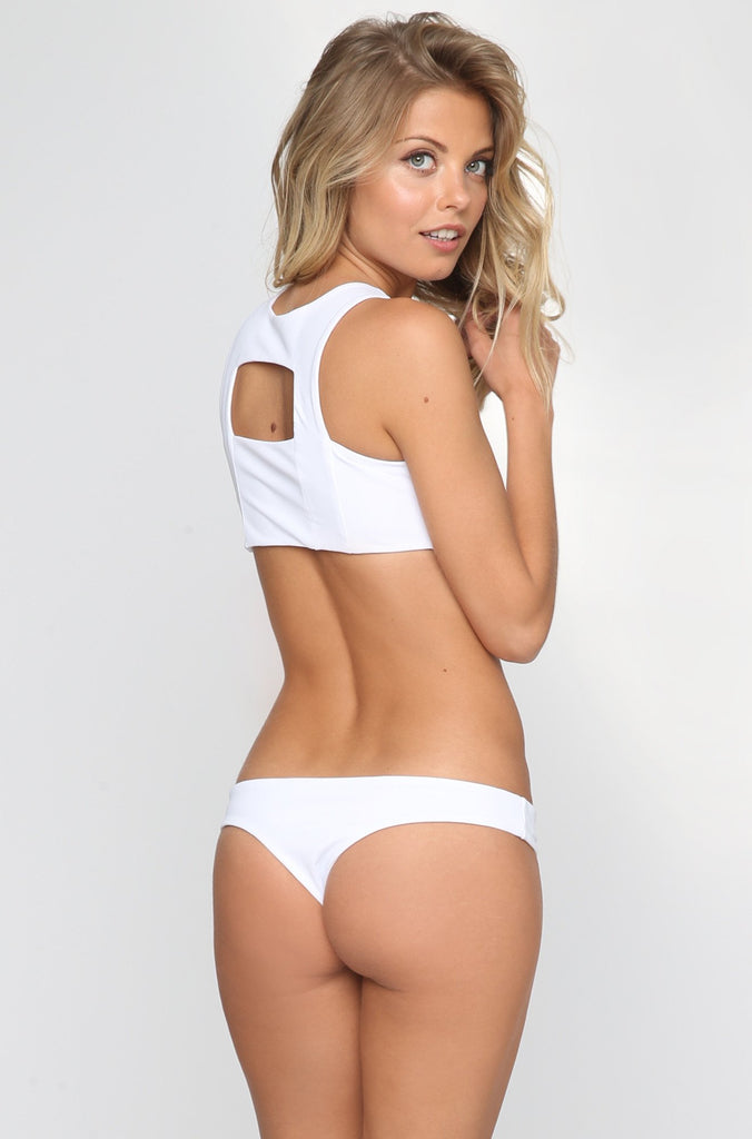 Donna Mizani Cheeky Bikini Bottom in White|ISHINE365 - 3