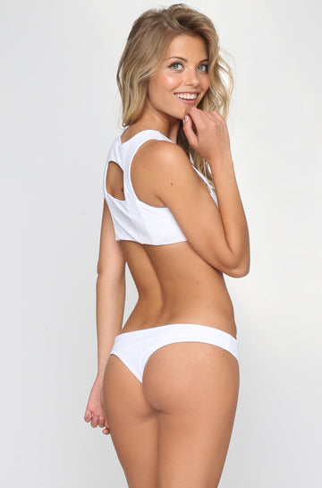 Donna Mizani Cheeky Bikini Bottom in White|ISHINE365 - 1