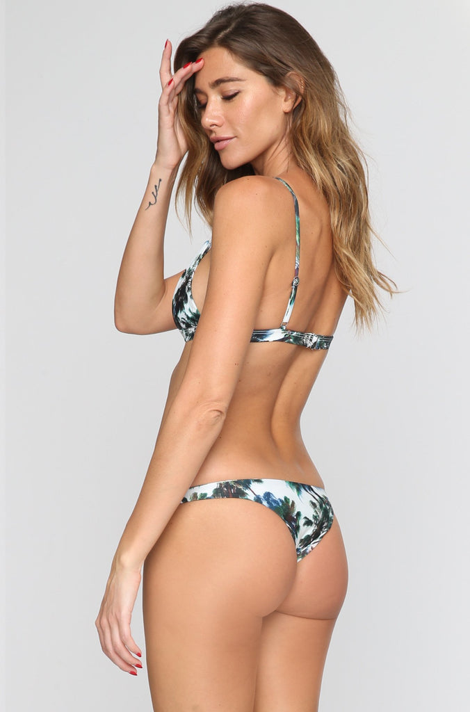ELLEJAY Rose Bikini Top in Palm Party|ISHINE365 - 4