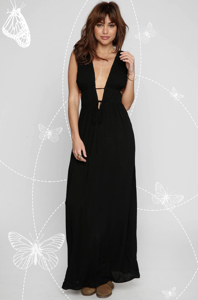 INDAH 2016 Titanium Maxi Dress in Black|ISHINE365 - 1