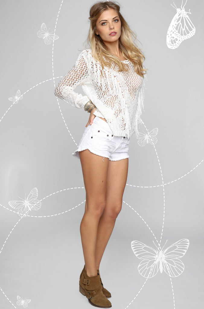 Bonitas Shorts in White Beauty