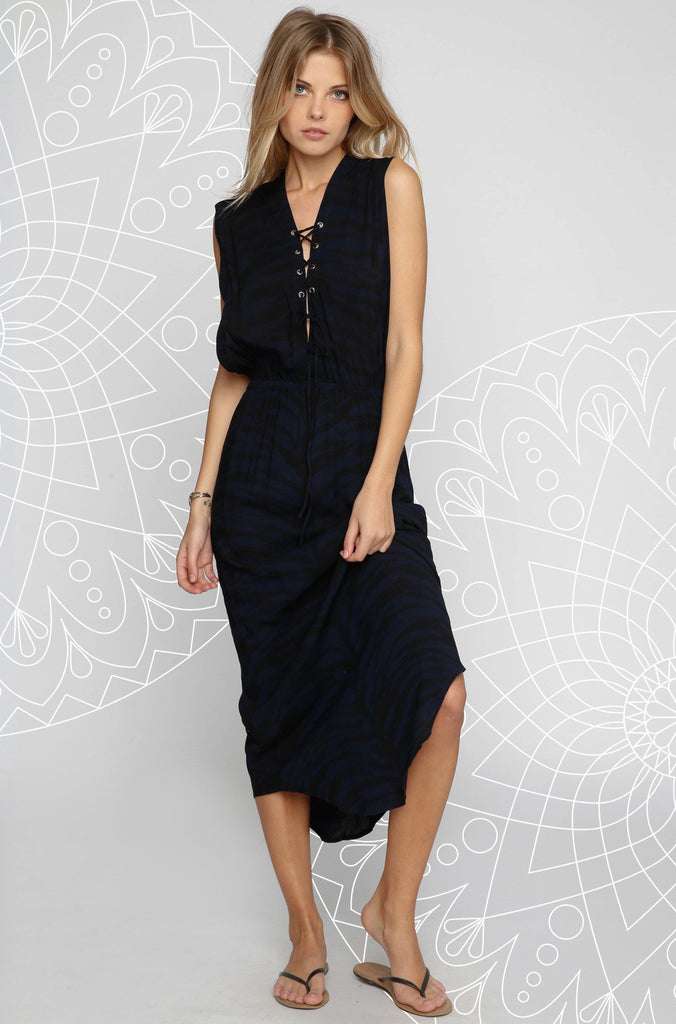INDAH 2016 Pamela Maxi Dress in Navy|ISHINE365 - 1
