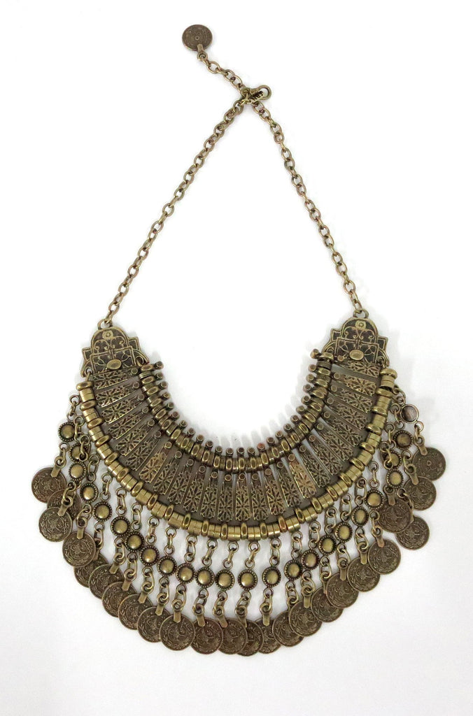 Natalie B Jewelry Fit For A Queen Statement Collar in Brass|ISHINE365 - 2