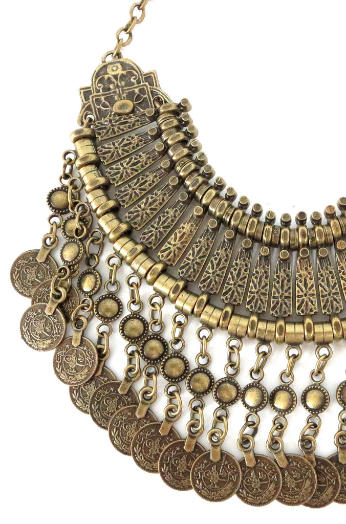 Fit For A Queen Statement Collar in Brass
