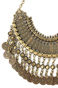Natalie B Jewelry Fit For A Queen Statement Collar in Brass|ISHINE365 - 1