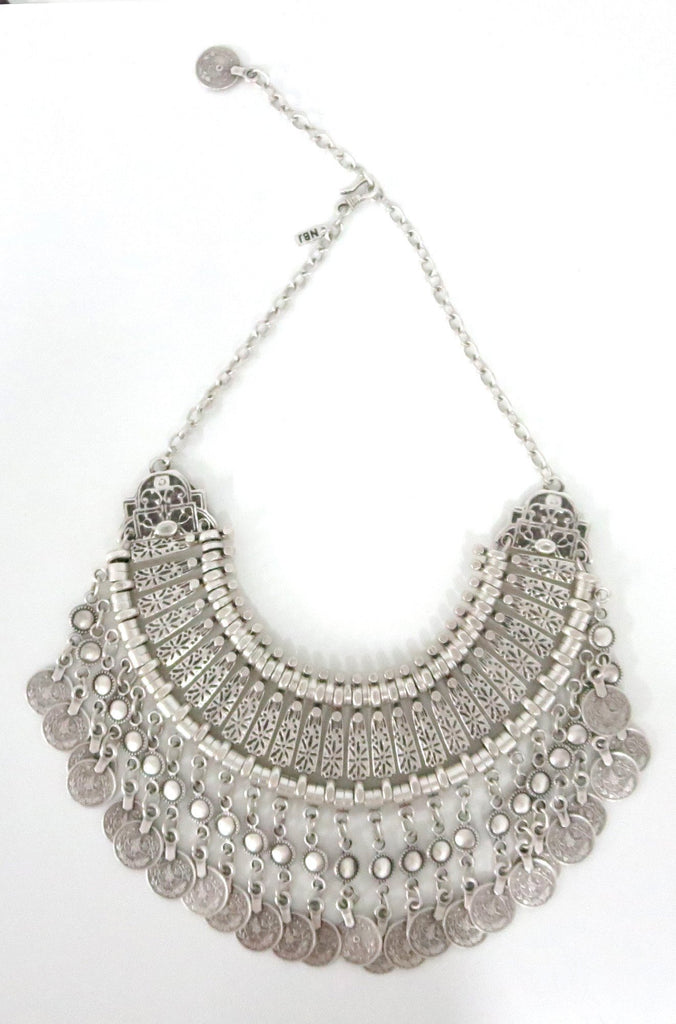 Natalie B Jewelry Fit For A Queen Statement Collar in Silver|ISHINE365 - 4