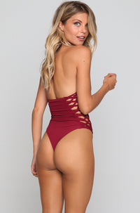 Camilla One Piece in Maroon