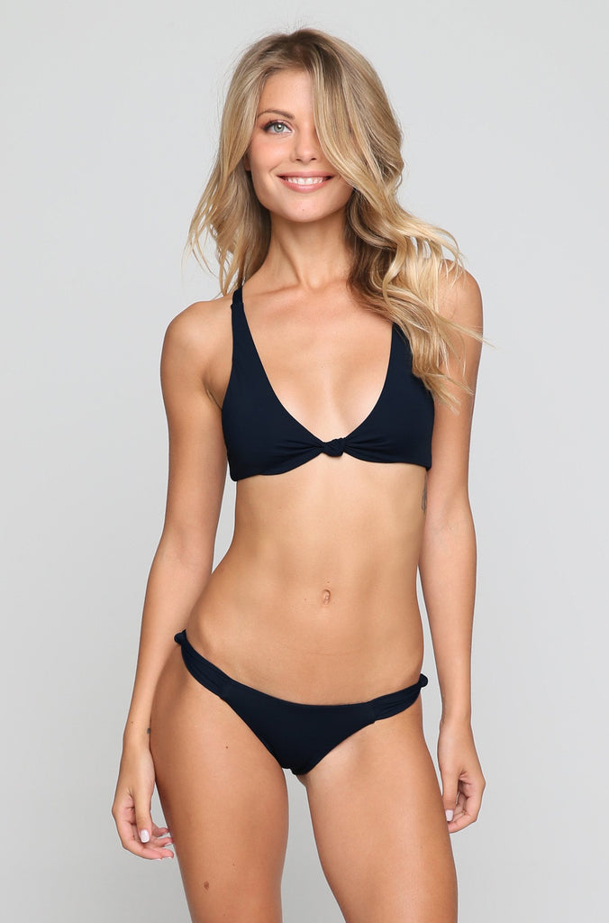 New Malibu Bikini Top in Black