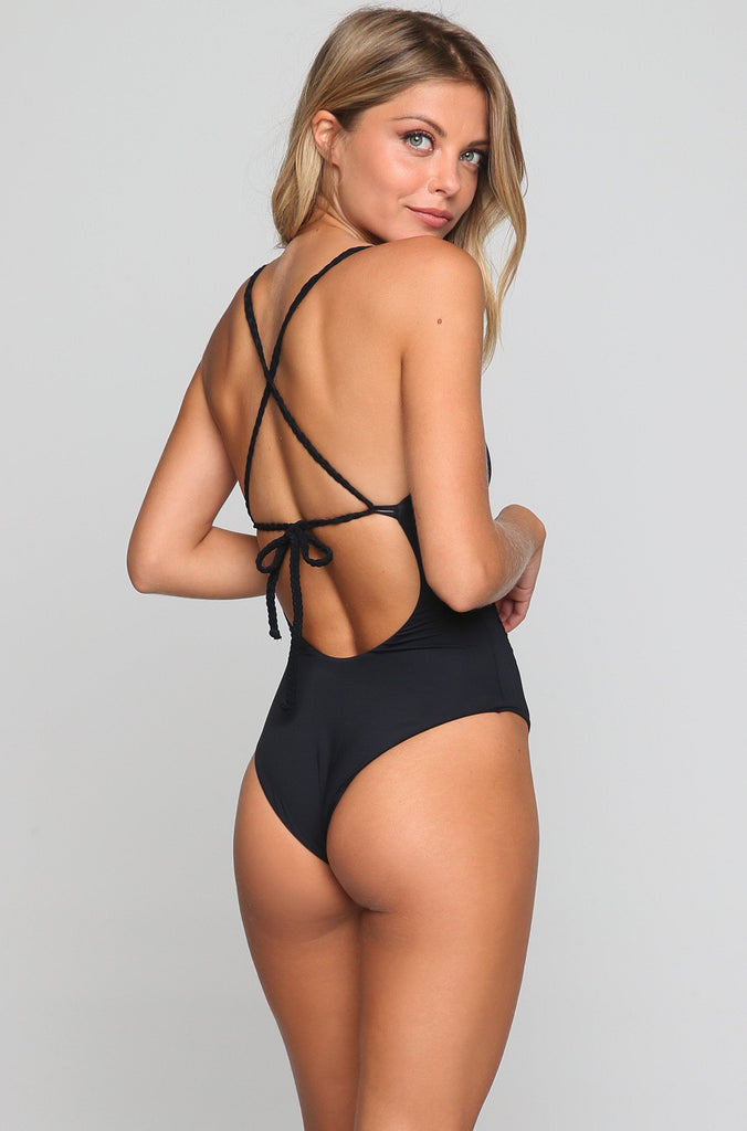 Poppy Cheeky One Piece in Black