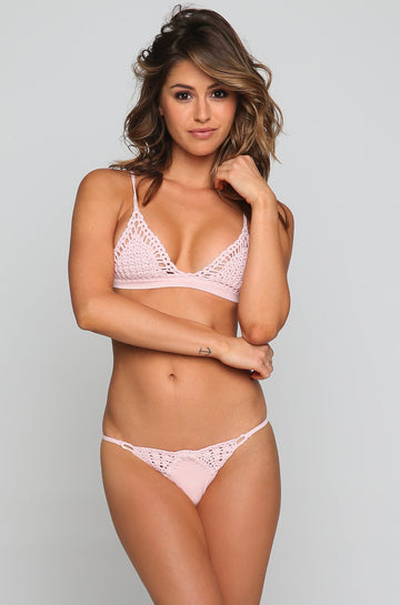 Stella Bikini Top in Blush