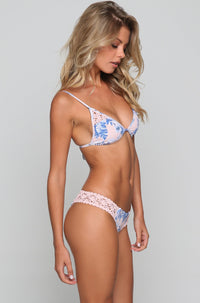 Tanner Bikini Top in Hawaiian Blush