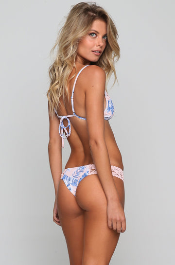 Tanner Bikini Bottom in Hawaiian Blush