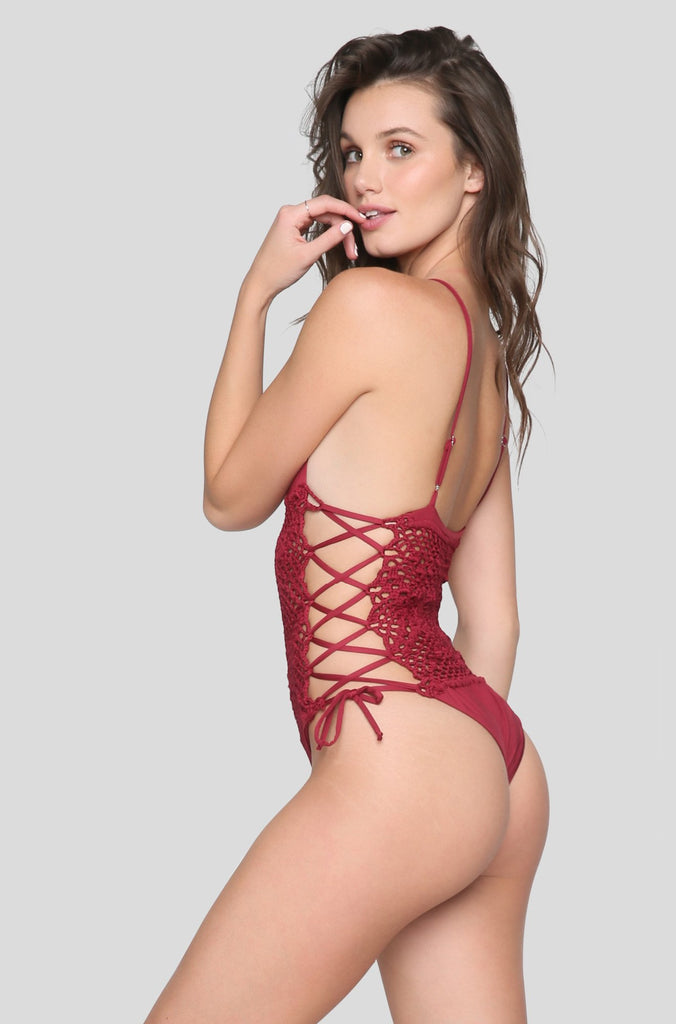 Lilah One Piece in Maroon