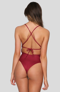 Poppy One Piece in Maroon