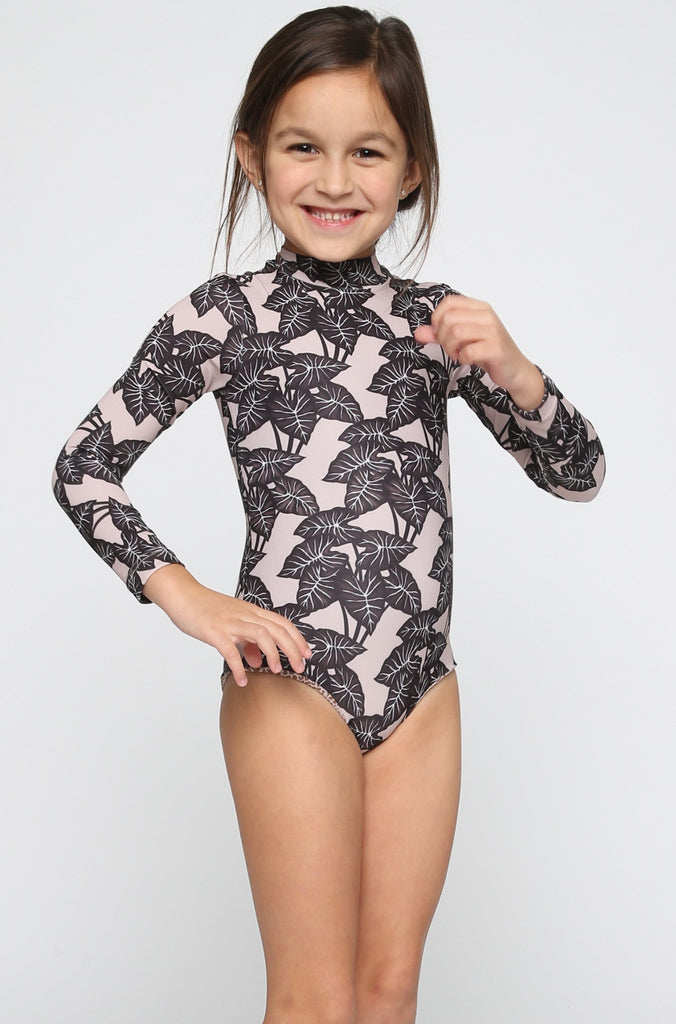 ACACIA RESORT Ehukai Honey Body Suit in Black Elephant (Child Bikini)|ISHINE365 - 1