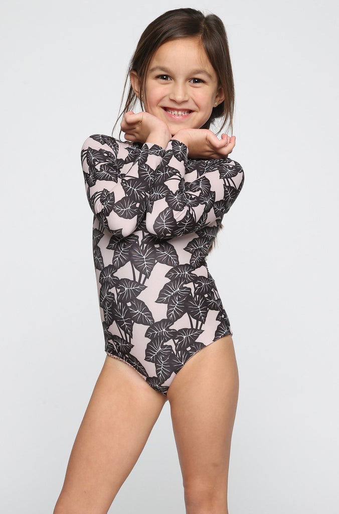 ACACIA RESORT Ehukai Honey Body Suit in Black Elephant (Child Bikini)|ISHINE365 - 2