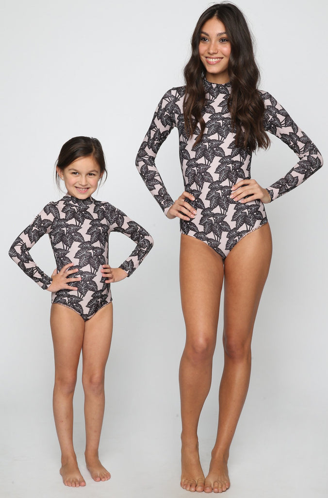 ACACIA RESORT Ehukai Honey Body Suit in Black Elephant (Child Bikini)|ISHINE365 - 3