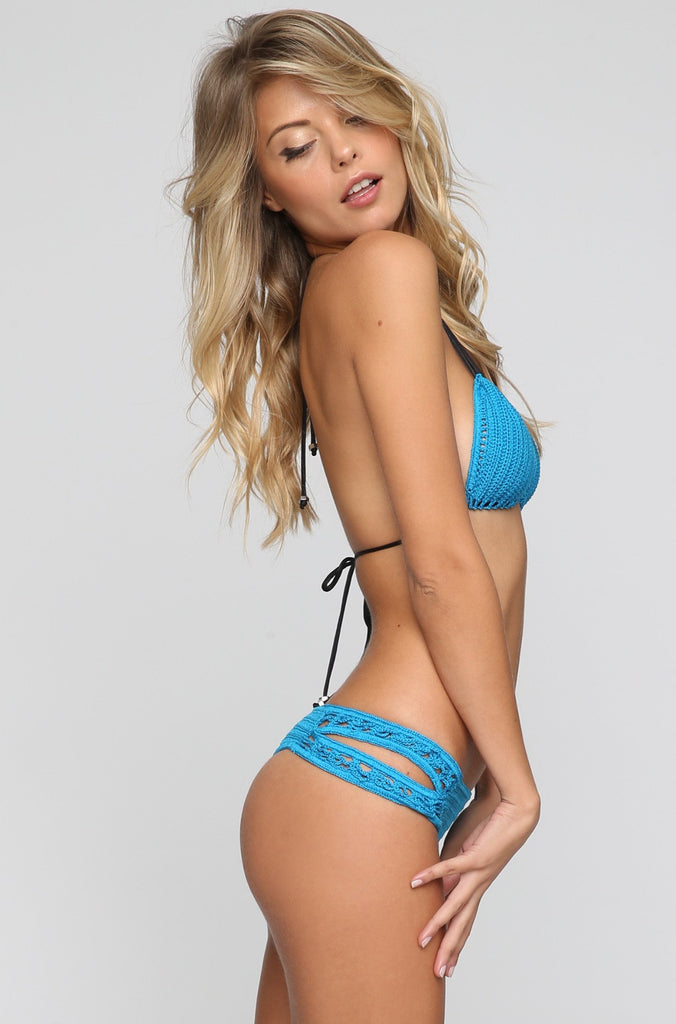 Tucker Bikini Top in Electric Blue