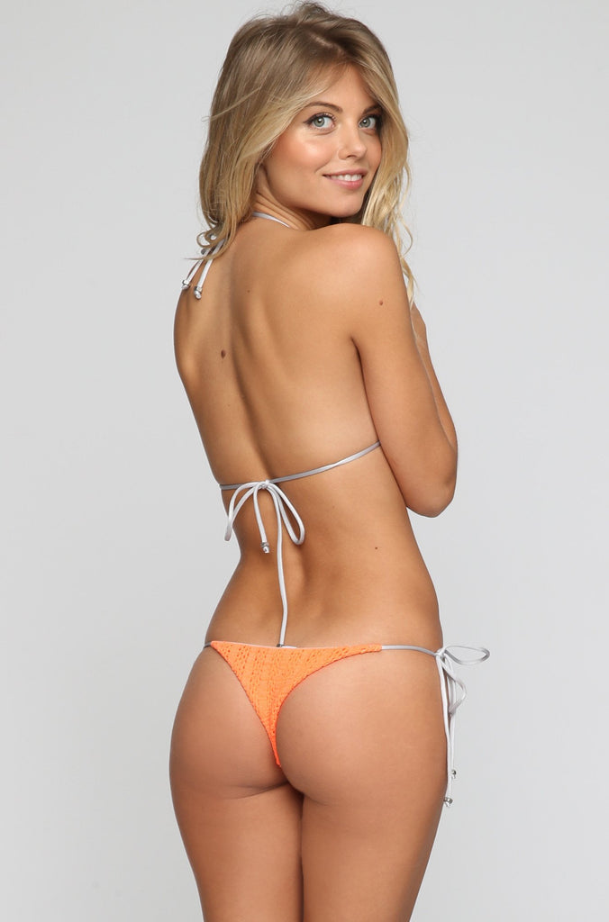 Sybille Bikini Bottom in Flurorescent Orange
