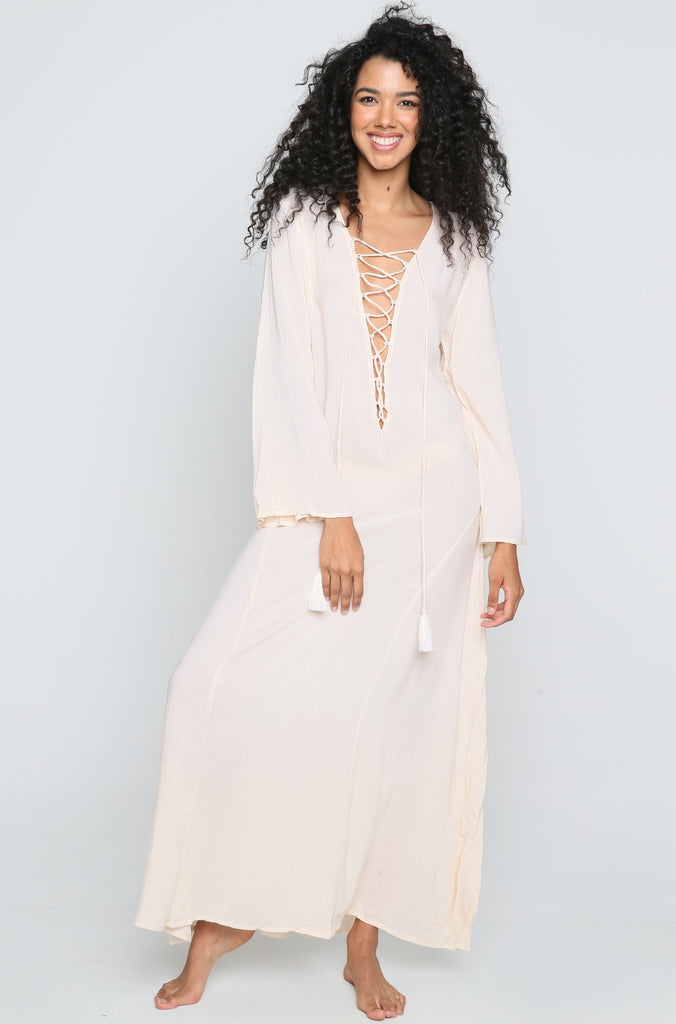 Devotion Maxi Dress in Sand