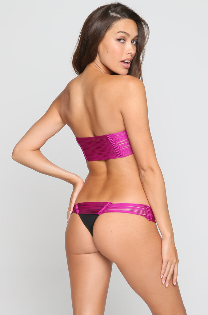 Echo Bikini Bottom in Magenta