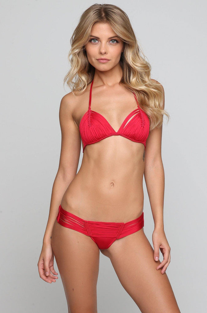 *ISHINE EXCLUSIVE* Andrea Bikini Top in Red