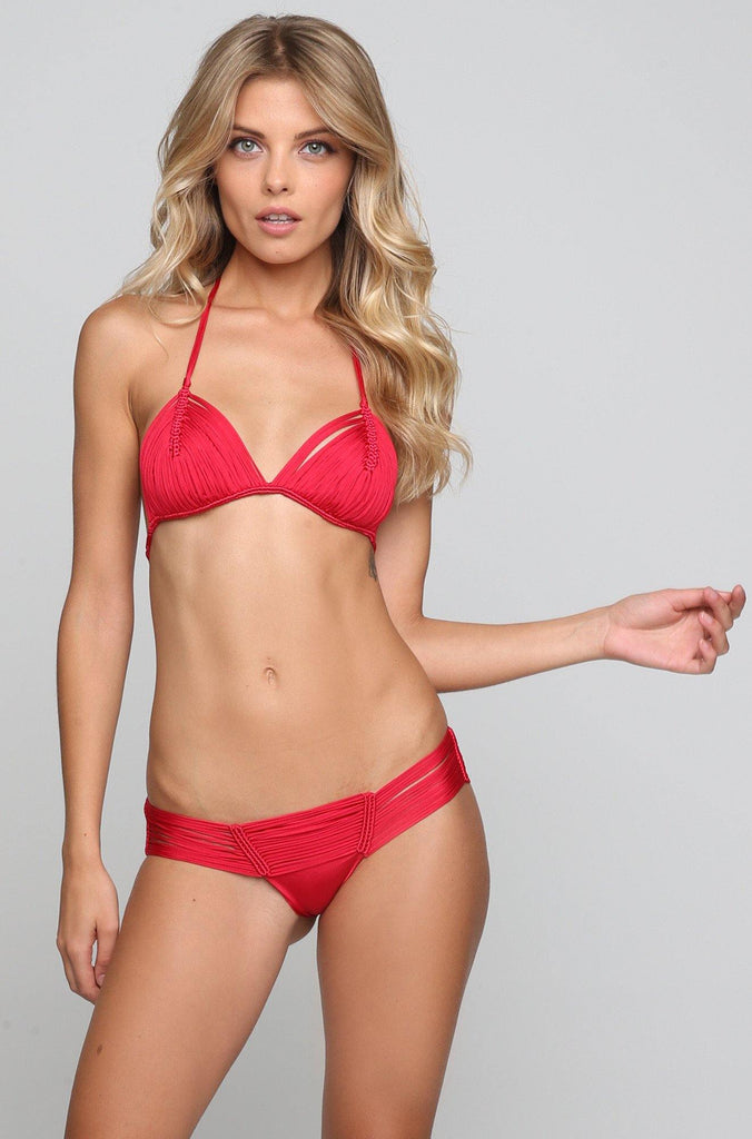 INDAH 2016 *ISHINE365 EXCLUSIVE* Echo Bikini Bottom in Red|ISHINE365 - 4