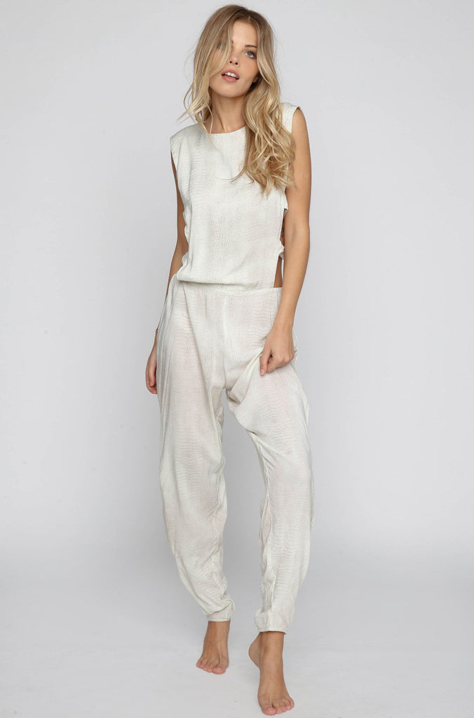 INDAH 2016 Heath Jumpsuit in Silver Crocodile|ISHINE365 - 2