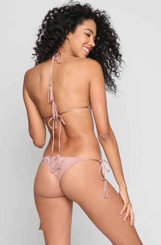 Peach Bikini Bottom in Woodrose