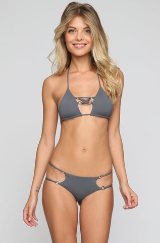 Jac Bikini Top in Iron