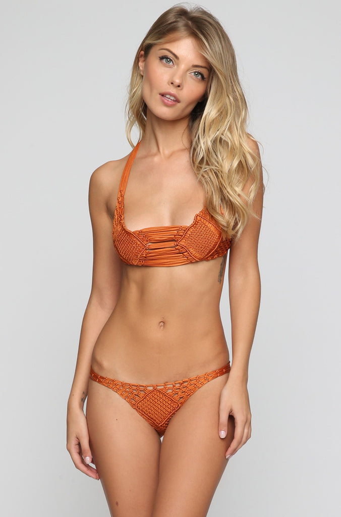 Koh Samui Bikini Top in Copper