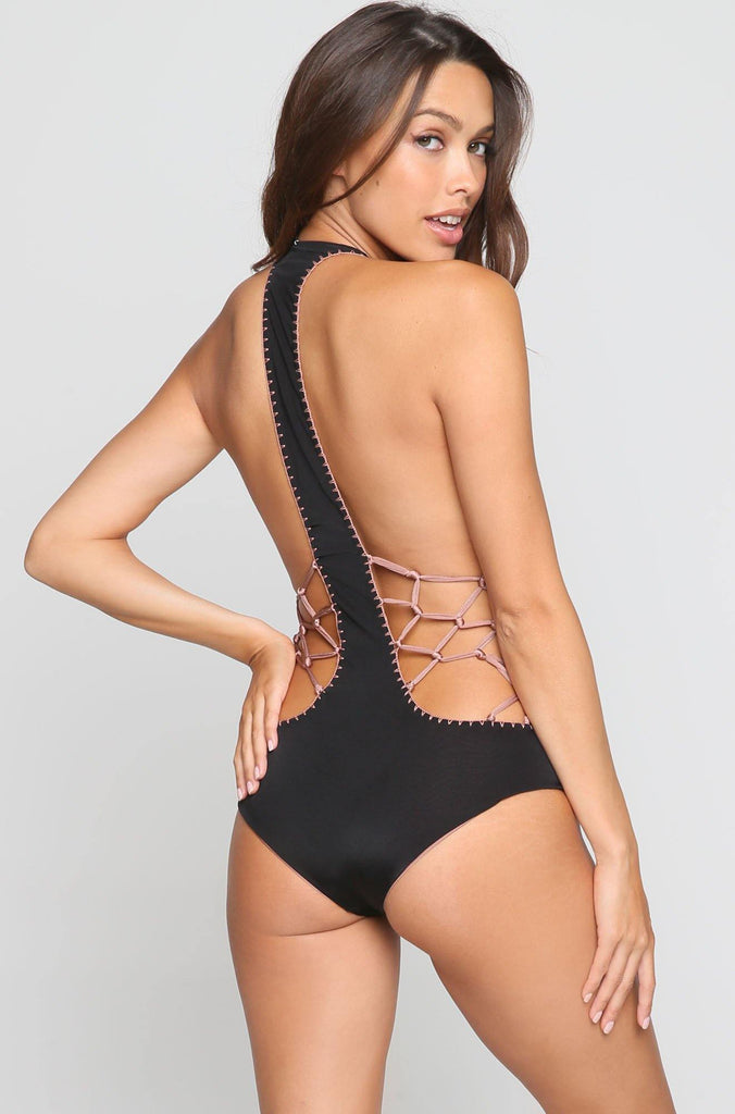 *ISHINE EXCLUSIVE* Pagoda One Piece in Woodrose