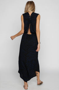 INDAH 2016 Pamela Maxi Dress in Navy|ISHINE365 - 3