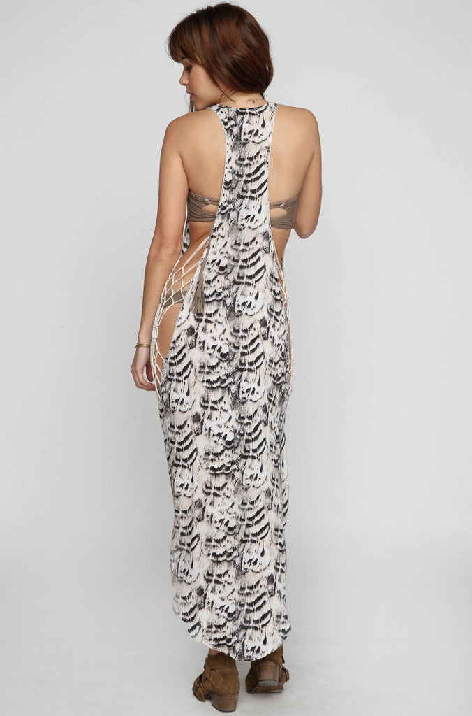 INDAH 2016 Tamri Maxi Dress in Natural Feathers|ISHINE365 - 4