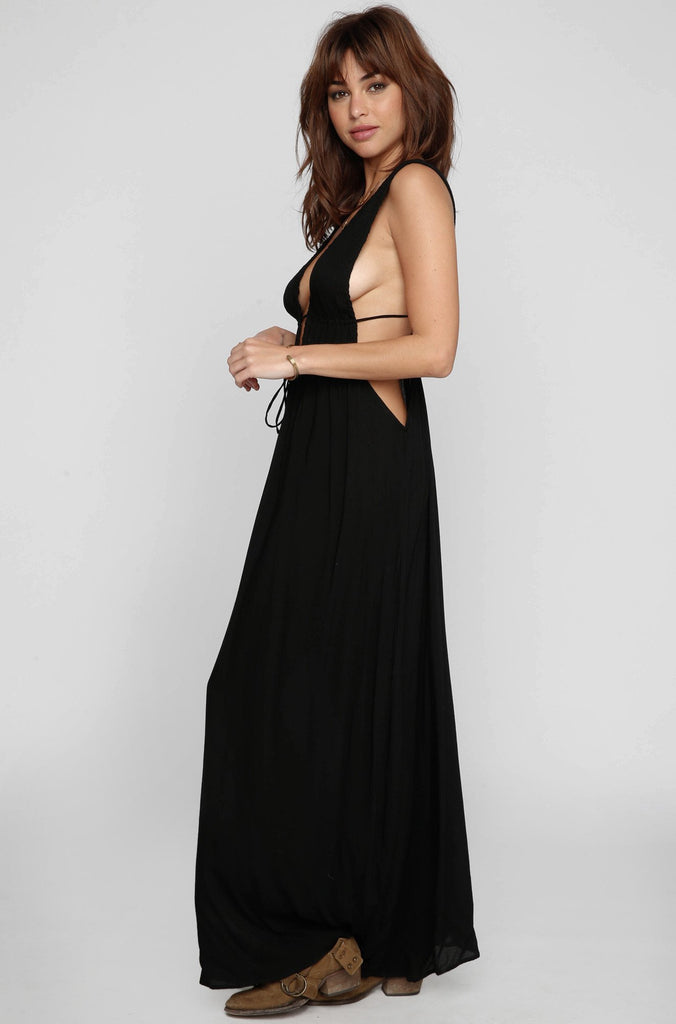 INDAH 2016 Titanium Maxi Dress in Black|ISHINE365 - 4