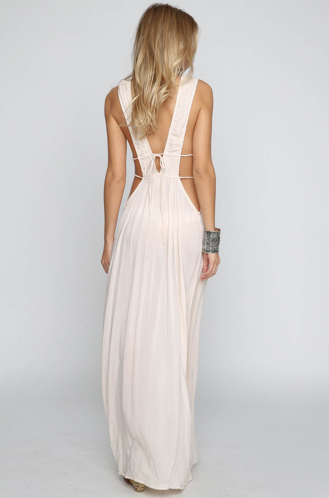 INDAH 2016 Titanium Maxi Dress in Sand|ISHINE365 - 4