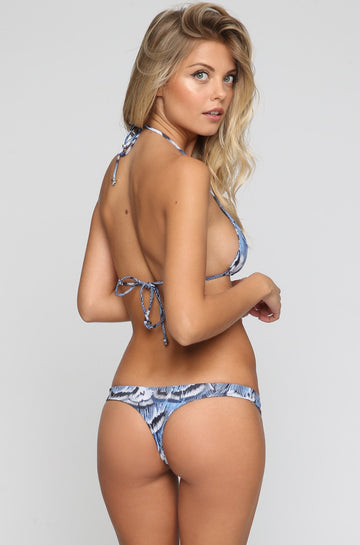 INDAH 2016 Mandy Bikini Bottom in Blue Feather|ISHINE365 - 1
