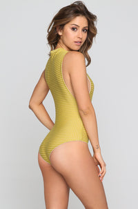 Cloud 9 Mesh One Piece in Pineapple/Clay