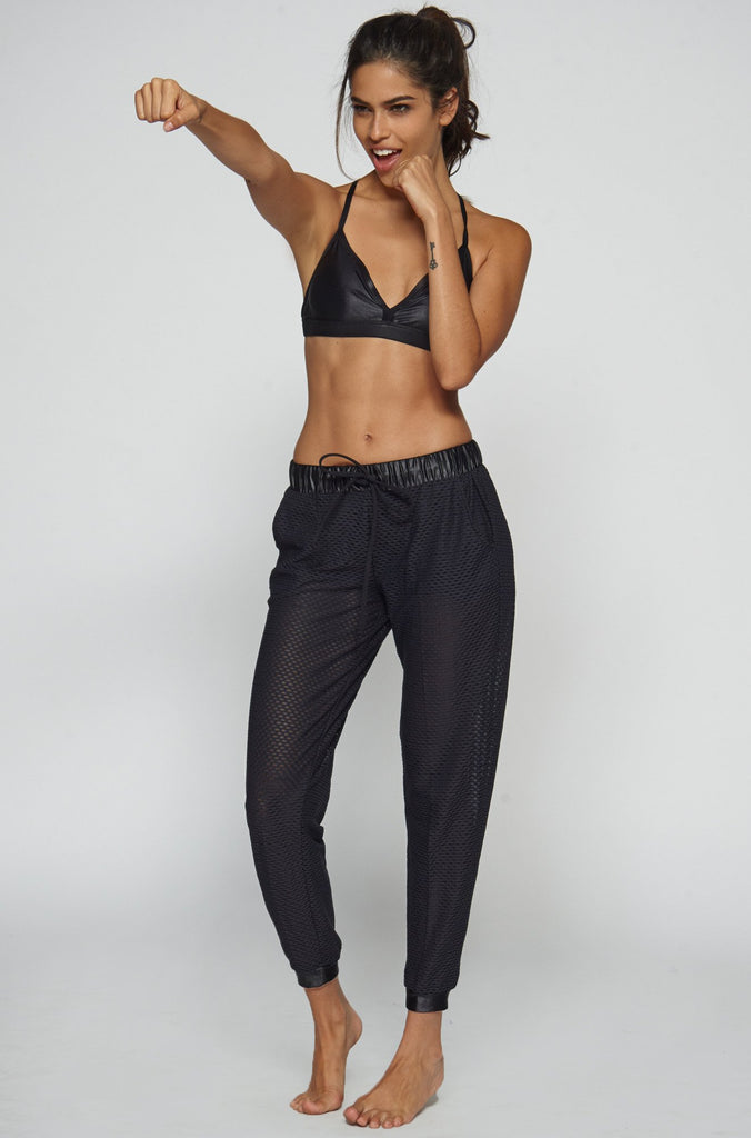 Double Layer Sweats in Black