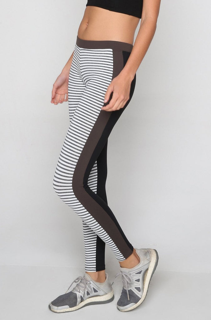 Galaxy Leggings in Tech Little Stripe