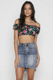 Berdie Bardot Crop Top in Flower Fling