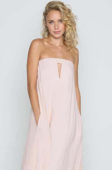 Sail Maxi Dress in Nude Blur