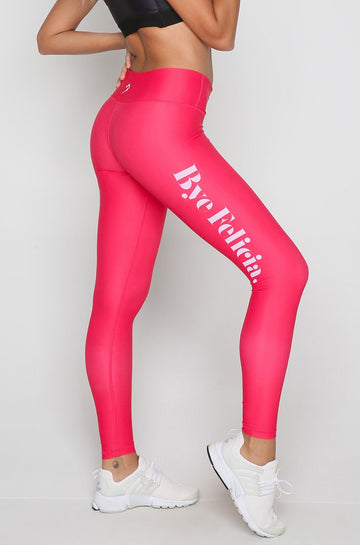 Bye Felicia Leggings in Fluorescent Red