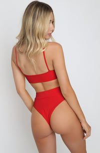 Ivanna Bottom in Ribbed Red