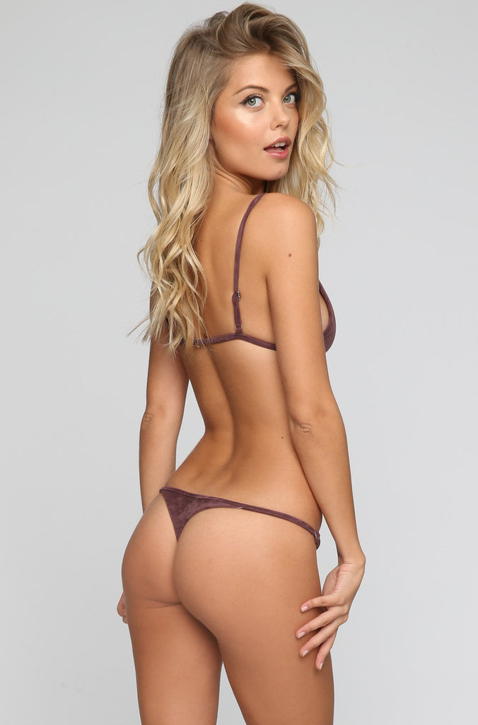 JYORK x DBRIE Cameron Reversible Bikini Bottom in Suede Mauve/Blush|ISHINE365 - 1