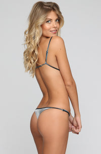 JYORK x DBRIE *ISHINE EXCLUSIVE* Cameron Reversible Bikini Bottom in Velvet Ice/Silver|ISHINE365 - 2