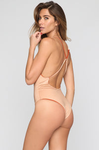 JYORK x DBRIE Jane Reversible One Piece in Velvet Rust/Nude|ISHINE365 - 4
