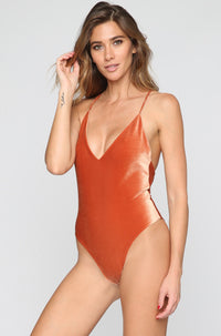 JYORK x DBRIE Jane Reversible One Piece in Velvet Rust/Nude|ISHINE365 - 1