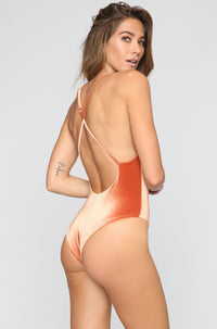 JYORK x DBRIE Jane Reversible One Piece in Velvet Rust/Nude|ISHINE365 - 2