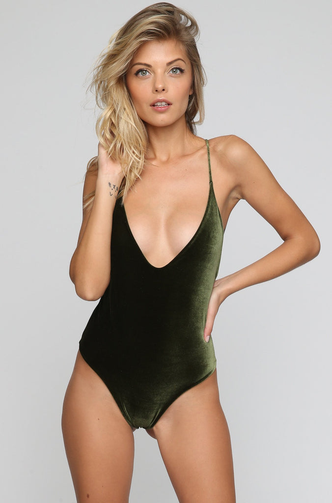 JYORK x DBRIE Jane Reversible One Piece in Velvet Emerald/Olive|ISHINE365 - 3